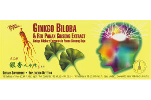Prince of Peace Ginkgo Biloba & Red Panax Ginseng Extract Dietary Supplement - 10 CT