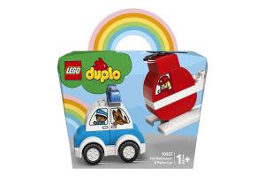 Конструктор для детей от 18мес №10957 Fire Helicopter&Police car Duplo Lego 1шт