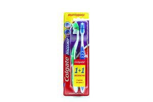 Зубная щетка средней жесткости Массажер Colgate 2шт