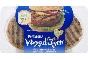 Franklin Farms Veggieburger Fresh Portabella - 4 CT