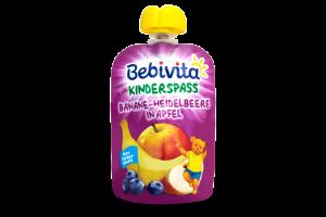 Пюре для детей от 12мес Банан Черника Яблоко Bebivita д/п 90г