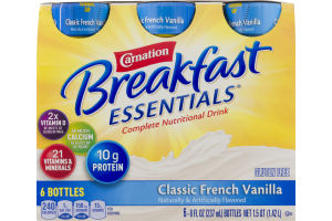 Carnation Breakfast Essentials Complete Nutritional Drink Classic French Vanilla - 6 CT