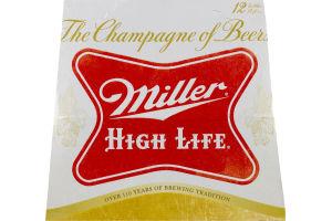 Miller High Life Bottles - 12 PK
