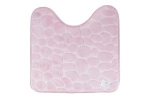 Коврик для туалета розовый 45*45см Оффтоп