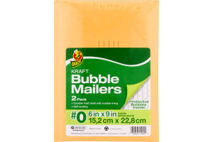 Duck Kraft Bubble Mailers #0 - 2 PK
