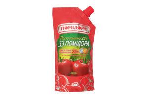Томатная паста 25% 33 Помидора Помідора д/п 350г