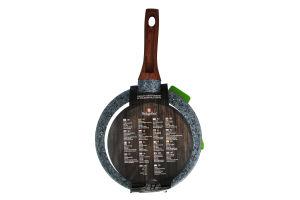 Сковорода алюм. 24см з гранітно-мармур. покрит. (+підставка під гаряче) ВН-1191