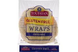 Toufayan Bakeries Gluten Free Wraps Original - 6 CT