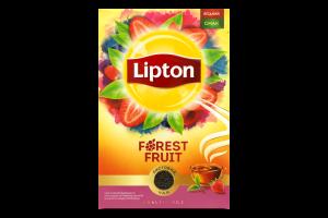 Чай черный байховый листовой с кусочками клубники Forest Fruit Lipton к/у 80г