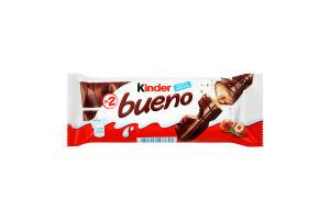 Вафли с молочно-ореховой начинкой Bueno Kinder м/у 2х21.5г