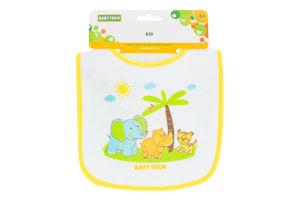 Нагрудник для дітей від 4міс на липучці №6506 Baby Team 1шт