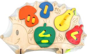Іграшка дерев`яна Гра-шнурівка Їжак арт.ДШ3