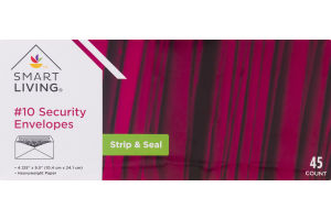 Smart Living #10 Security Envelopes Strip & Seal - 45 CT