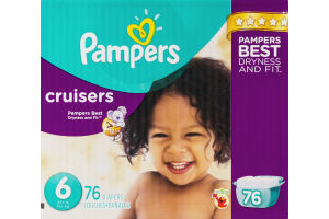 Pampers Cruisers Size 6 Diapers - 76 CT