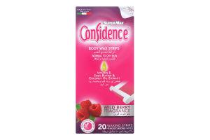 Полоски для депиляции тела восковые для нормальной кожи Confidence Super-Max 20шт
