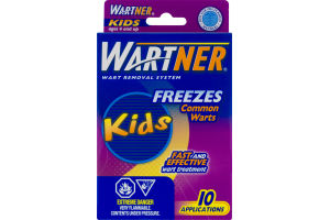 (CN) Wartner Dispositif Anti-Verrues Enfants Gele Les Verrues Ordinaires - 10 CT, Wartner Wart Removal System Kids Freezes Common Warts Applications - 10 CT