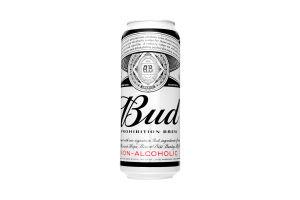 Пиво 0.5л безалкогольное светлое Bud Prohibition Brew ж/б