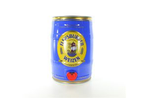 Пиво 5л 5.1% светлое нефильтрованное Flensburger Weizen ж/б