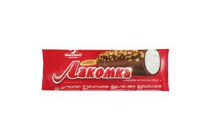 Мороженое 12% в сливочной глазури с арахисом Лакомка Ласунка м/у 100г