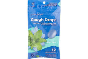 CareOne Cough Drops Menthol - 30 CT