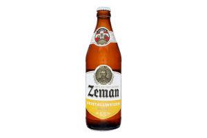 Пиво 0.5л 5.5% світле фільтроване пастеризоване Kristallweizen Zeman пл