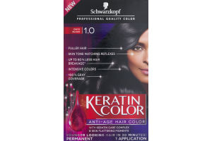 Schwarzkopf Keratin Color Permanent Anti-Age Hair Color 1.0 Onyx Black