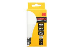 Лампа KODAK A60 E27 12W 220V Тепл.Біл. 3000K Мат. н/Дим.