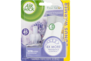 Air Wick Essential Oils Warmer Kit Lavender & Chamomile