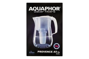 Фильтр-кувшин 4.2л черный Р140А5МGFM Provence A5 Mg Aquaphor 1шт