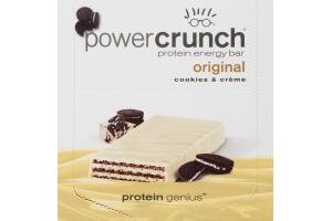 Power Crunch Protein Energy Bar Original Cookies & Creme - 12 CT