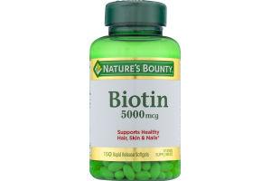 Nature's Bounty Biotin 5000 mcg - 150 CT