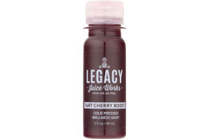 Legacy Juice Works Cold Pressed Wellness Shot Tart Cherry Boost