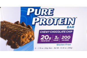 Pure Protein Bar Chewy Chocolate Chip - 6 CT
