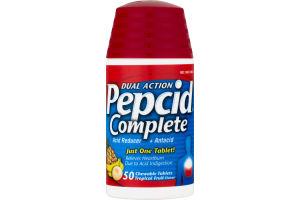 Pepcid Complete Dual Action Acid Reducer + Antacid - 50 CT