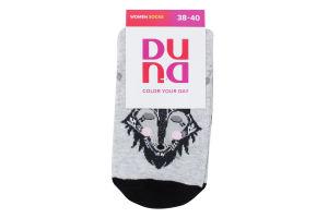 Шкарпетки жіночі Duna №3130 23-25 сіро-бежевий