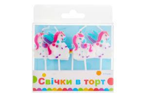 Свечки в торт Фигурки Зверятки Хеппі Паті 5шт