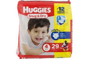 Huggies Snug & Dry Diapers Size 4 - 29 CT