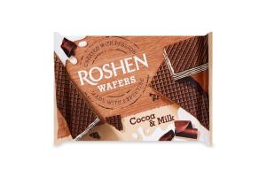 Вафлі Какао-молоко Wafers Roshen м/у 72г