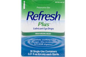 Refresh Plus Lubricant Eye Drops Moisturizing Relief - 30 CT