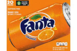 Fanta Orange Soda - 20 PK