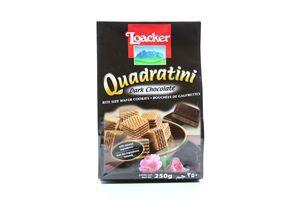 Вафлі Loacker з начинкою чорний шоколад 250г х18