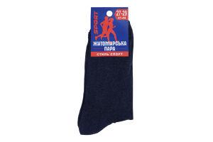 Шкарпетки чоловічі Житомирська пара Sport №841247 27-29 джинс