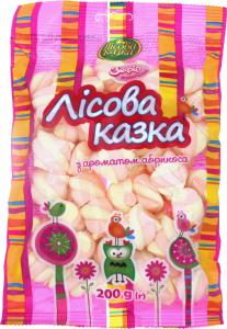 Зефир жевательный с ароматом абрикоса Лісова Казка м/у 200г