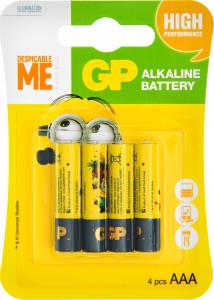 Батарейки ААA LR03 Minions GP 4шт
