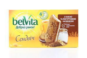 Печенье Доброе утро! Сэндвич какао-йогурт Belvita к/у 253г