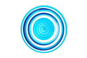Тарелка голубая 19см D010