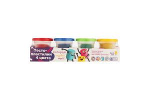Набор для творчества для детей от 3лет №ТА1008V Тесто-пластилин 4 цвета Genio Kids 1шт
