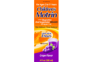 Motrin Children's Pain Reliever/Fever Ruducer Grape Flavor