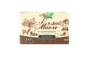 Масло сладкосливочное 73% Селянське Млекоферма м/у 100г