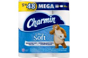 Charmin Ultra Soft Bathroom Tissue Mega Rolls - 12 CT